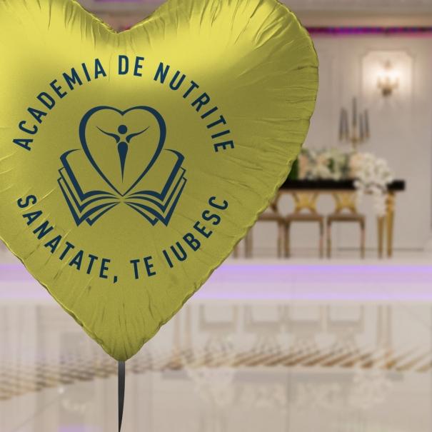Balon heliu Brasov folie forma stea personalizat logo sau mesaj diferite culori detaliu