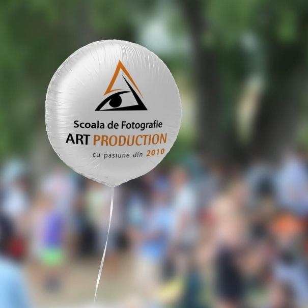 Balon heliu Brasov folie rotund personalizat logo sau mesaj diferite culori
