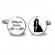 Butoni camasa personalizati rotund mire nas nunta botez