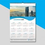 Calendar 12 file personalizat dimensiunea a4 2