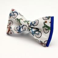 Papion personalizat casual Brasov cu tema bicicleta albastrununta botez nas mire cadou pentru el lateral