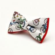 Papion personalizat casual Brasov cu tema bicicleta rosununta botez nas mire cadou pentru el