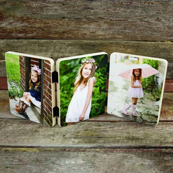 Set 3 fotografii imnprimate pe lemn 10x15 personalizate