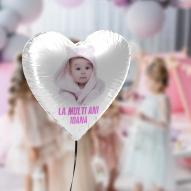 balon folie INIMA poza si nume LA MULTI ANI
