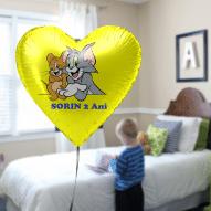 Balon heliu Brasov din folie forma inima diverse culori personalizat desene animate si mesajul tau preferat