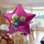 balon heliu forma de stea brasov cu desene animate pentru botez