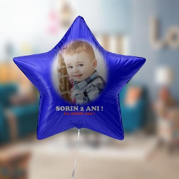 blon cu heliu brasov folie forma de stea cu poza pentru botez sau onomastica