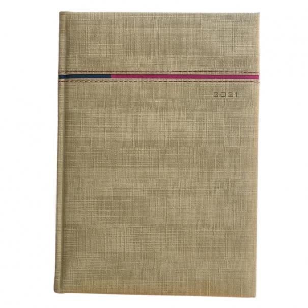 Agenda A5 personalizata cu margini bronz metalic
