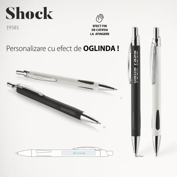 Pix metalic personalizat cu logo sau text Shock cu effect de oglinda dupa personalizare