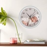 ceas rotunt perete personalizat cu poza copil