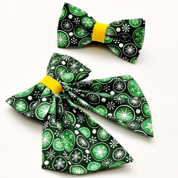 Papioane pentru craciun femei barbati verde