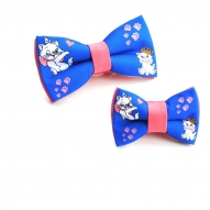 Papion cu pisicute aristocrate albastru roz