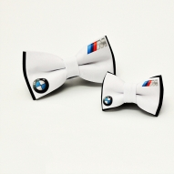 Papion personalizat BMW tata fiu alb