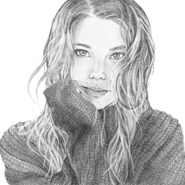 Portret in creion Brasov