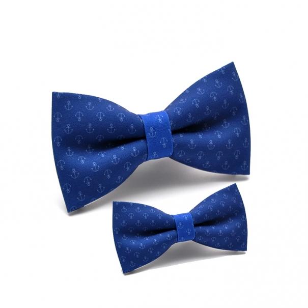 papion albastru nautic ancora