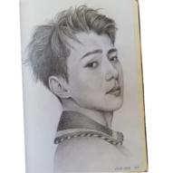 portret grafica creion brasov