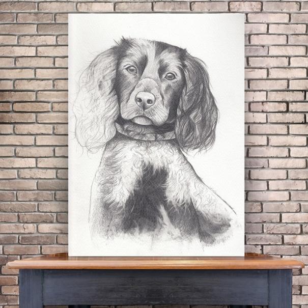 Portret animal companie cadou A3