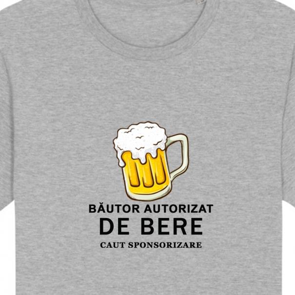 Tricouri personalizate cu mesaj bautor autorizat pentru barbati