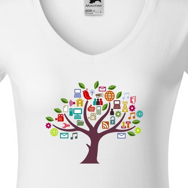 Tricouri personalizate cu copac social media