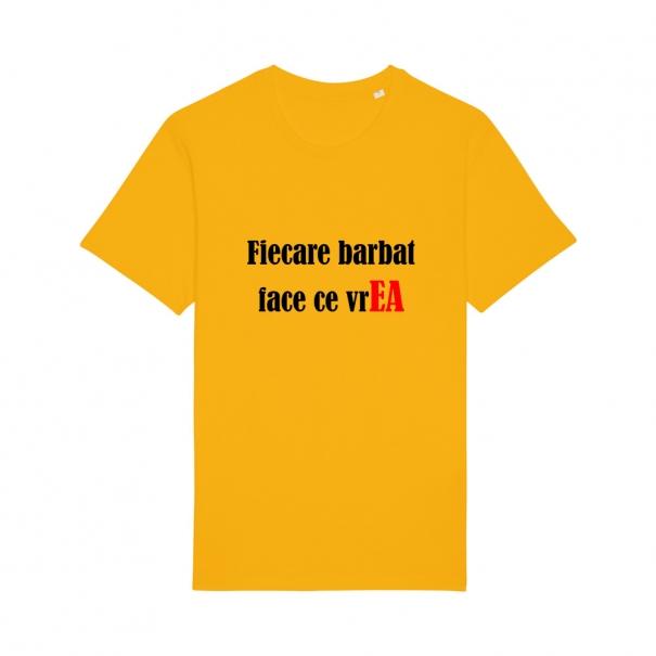 Tricouri personalizate cu mesaj fiecare barbat