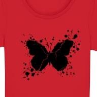 Tricouri personalizate cu fluture pictat negru