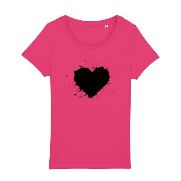 Tricouri personalizate cu inima pictata negru