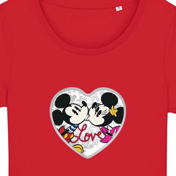 Tricouri personalizate cu inimioara minnie si mickey
