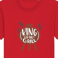 Tricouri personalizate cu king of the grill