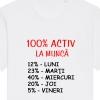 Tricouri personalizate cu mesaj 100% activ la munca