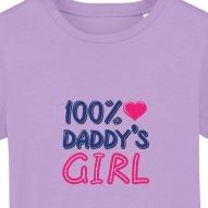 Tricouri personalizate cu mesaj 100% daddy's girl