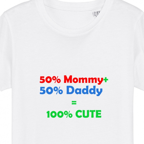 Tricouri personalizate cu mesaj 50% mommy