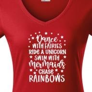Tricouri personalizate cu mesaj dance with fairies