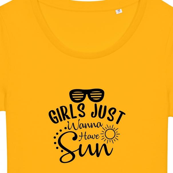 Tricouri personalizate cu mesaj girls just wanna