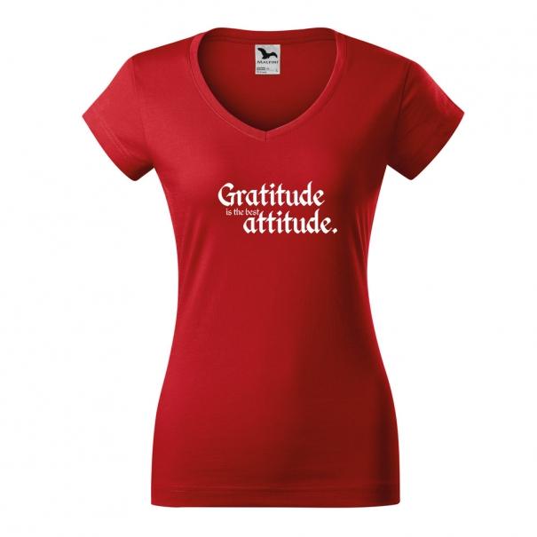 Tricouri personalizate cu mesaj gratitude is the best
