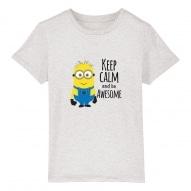 Tricouri personalizate cu mesaj keep calm minioni