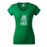 Tricouri personalizate cu mesaj life begins