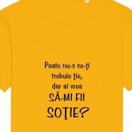 Tricouri personalizate cu mesaj poate nu-s ce-ti trebuie tie