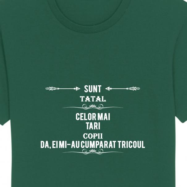 Tricouri personalizate cu mesaj sunt tatal celor mai tari copii