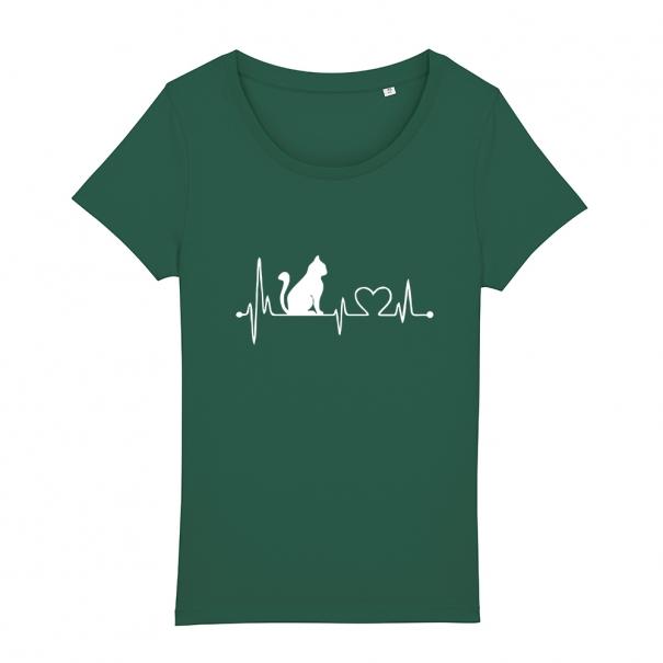 Tricouri personalizate cu puls, pisica si inimiara