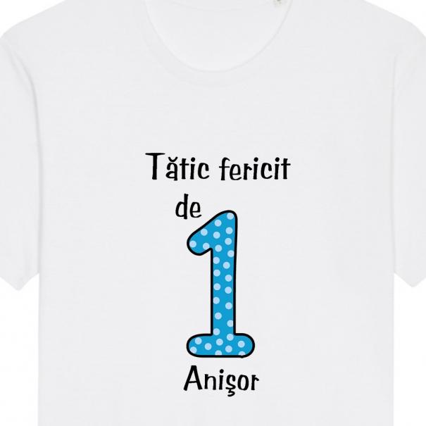 Set 3 tricouri familie adulti si bebe - familie fericita de 1 anisor