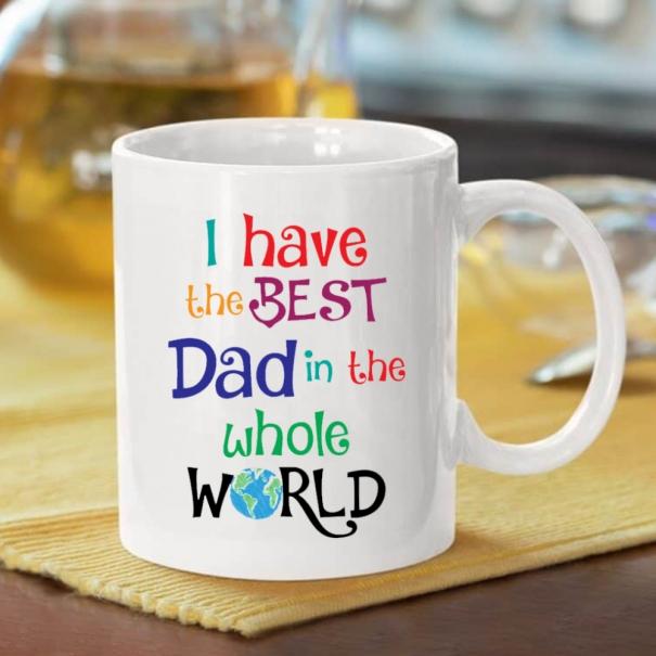 Cana personalizata cu mesaj i have the best dad