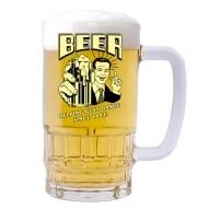 Halba personalizata cu mesaj beer
