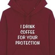 Hanorac unisex personalizat cu mesaj i drink coffee