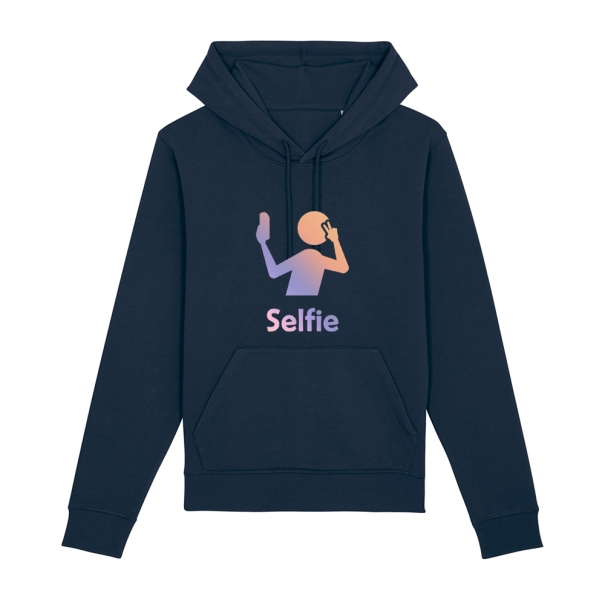 Hanorac unisex personalizat cu mesaj selfie