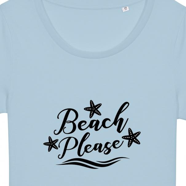 Tricouri personalizate cu mesaj beach please