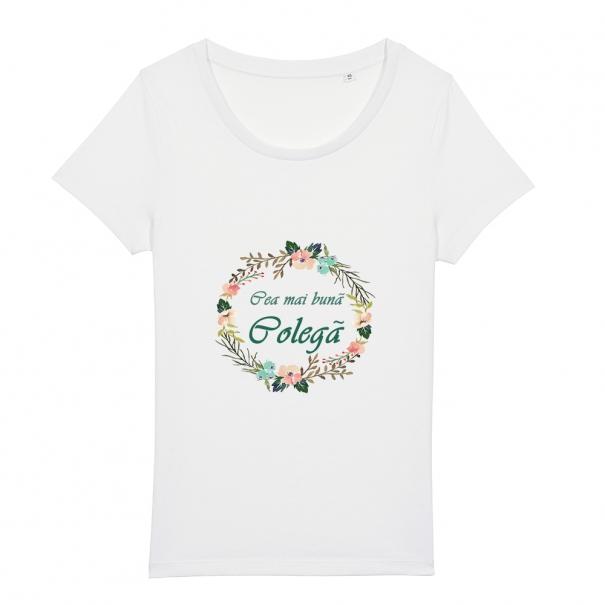 Tricouri personalizate cu mesaj cea mai buna colega