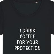 Tricouri personalizate cu mesaj i drink coffee