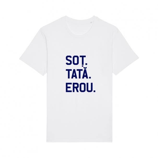 Tricouri personalizate cu mesaj sot tata erou