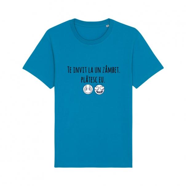 Tricouri personalizate cu mesaj te invit la un zambet