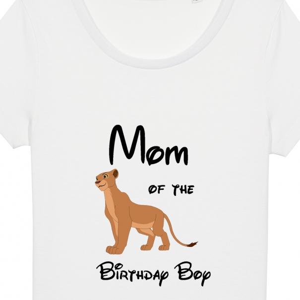 tricou mom of the birthday boy